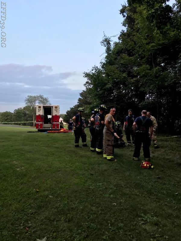 08/21/2017 East Fishkill District Drill Train on Haz-Mat Decon as well as Rope rescue. Awesome turn out by all. Most of all everyone learned something.