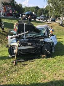 8/10/17  Motor  Vehicle Accident car in to a pole